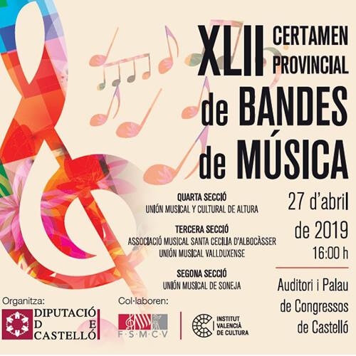 Portada CD 23 XLII Certamen Provincial De Bandes De Música