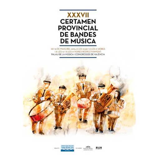 Portada CD/DVD 14 XXXVII certamen provincial de bandas de música de Valencia / Casino Musical de Godella