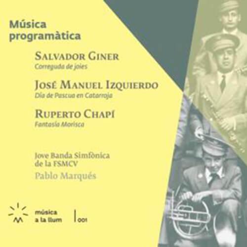 Portada CD 1 Música a la llum: «Música programática»