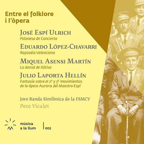 Portada CD 2 Música a la llum: «Entre el folklore i l'òpera»