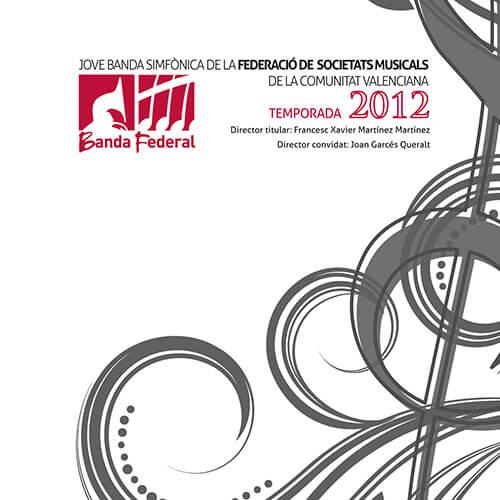Portada CD 12 Joven Banda Sinfónica de la FSMCV / Temporada 2012