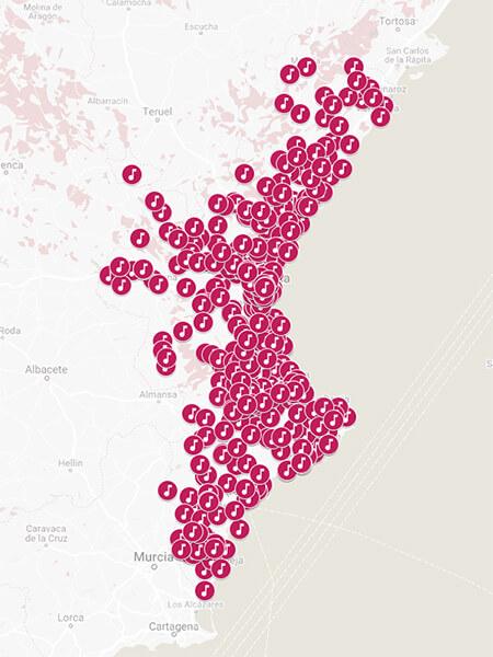 FSMCV Mapa Sociedades Cominidad Valenciana
