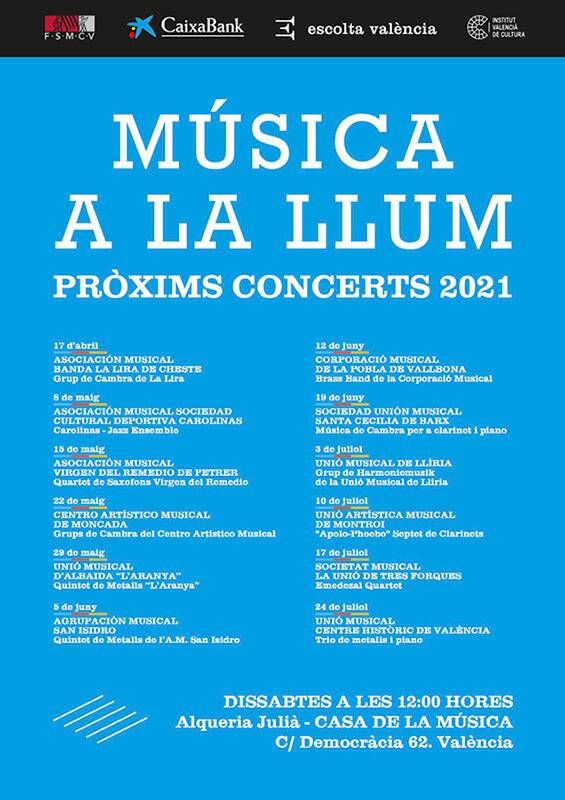Programa Conciertos Música a la Llum